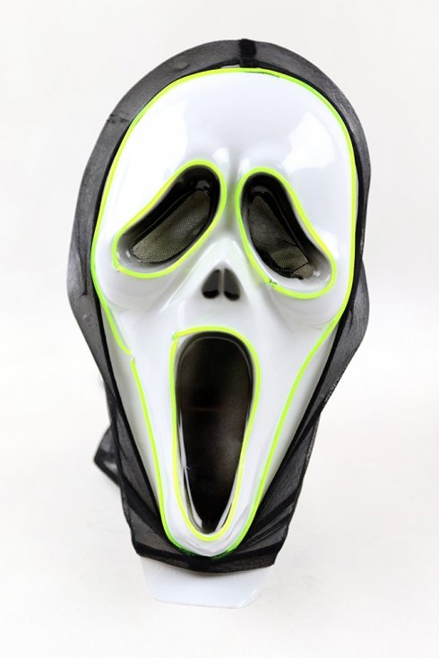 Masky na halloween s LED - Vreskot (Scream)