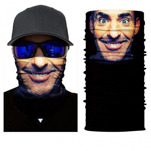 Nákrčník s úsmevom 3D potlač -MR. X FACE