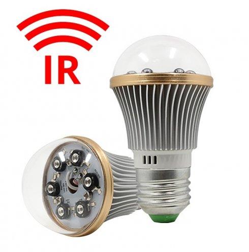 Extra további IR éjszakai látás 6x IR LED-es villanykörteben - akár 8 méteres hatótávolsággal