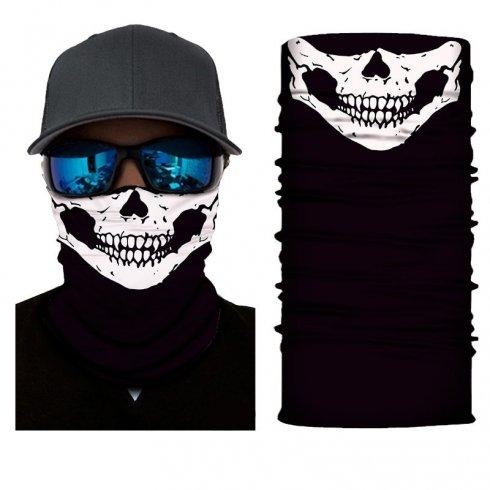 LEBKA bílá - Multifunkční šátek na obličej či hlavu