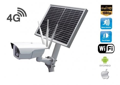 Outdoor security Full HD camera 4G + WiFi with solar panel