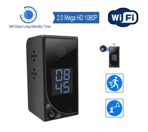 Szpiegowska kamera WiFi FULL HD - do 1 roku Tryb czuwania + wizja w podczerwieni + detekcja ruchu PIR