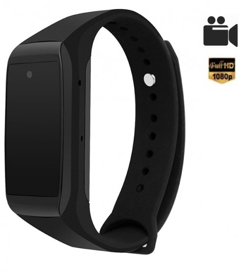 Sports bracelet with hidden Full HD camera and clock