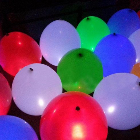 LED balloons - glowing light up balloons - Set of 5 pcs