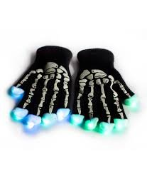 Guantes luminosos LED - esqueleto