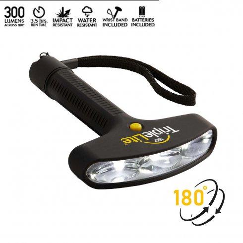 Latarka LED do oświetlenia TripleLite - szeroka do 180° (300 lumenów)