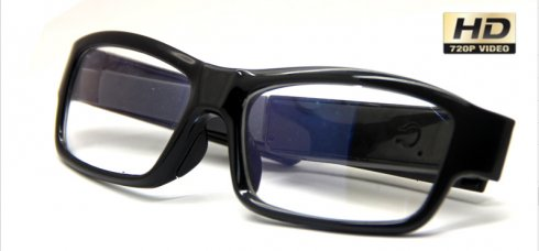 Glasses with built-in spy HD camera (perfect camouflage)