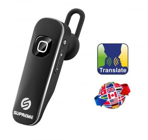 Handsfree real-time jazykový překladač přes sluchátko - Supreme BTLT 160