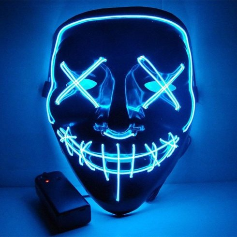 Maschera di spurgo - LED blu scuro