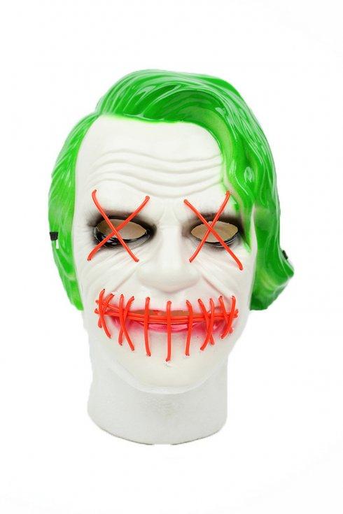 Джокер маска - LED мигаща маска на лицето