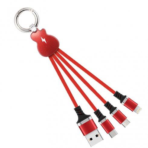 Univerzální nabíjecí USB kabel 3V1 - Micro USB, Lightning, USB-C