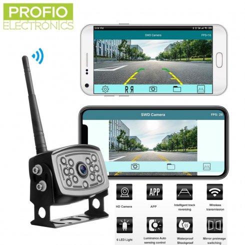 Téléphone à caméra de recul 12IR LED - diffusion en direct via wifi vers un téléphone mobile (iOS, Android)