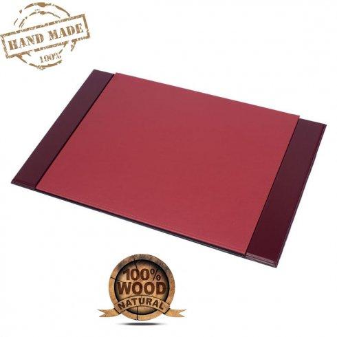 Podlozka na stol (písací či pracovný) Luxus - (Mahagón drevo +Koža) Ručná výroba