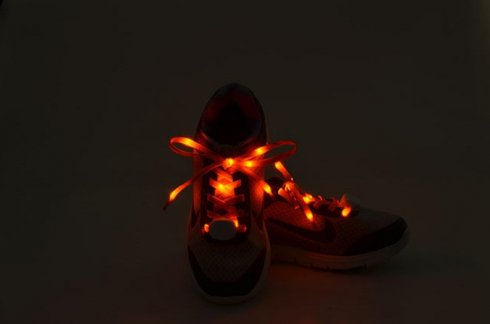 LED cordones intermitentes - naranja