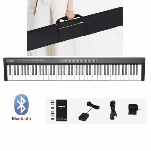 Elektronicke piano (digitální klavír) 125cm s 88 klávesami + bluetooth + stereo reproduktory