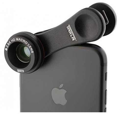 Obiettivo macro 2,8x per tutti i tipi di smartphone (telefoni cellulari)