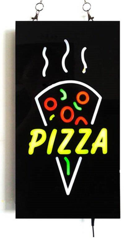 宣伝用LEDサイン「PIZZA」ボード43 cm x 23 cm