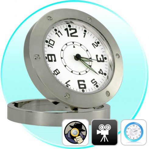 Spy camera in clock with motion detection