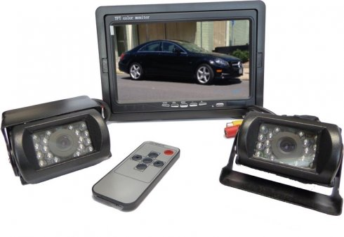 "Parking system with 2 IR LED back camera + 7"" LCD"