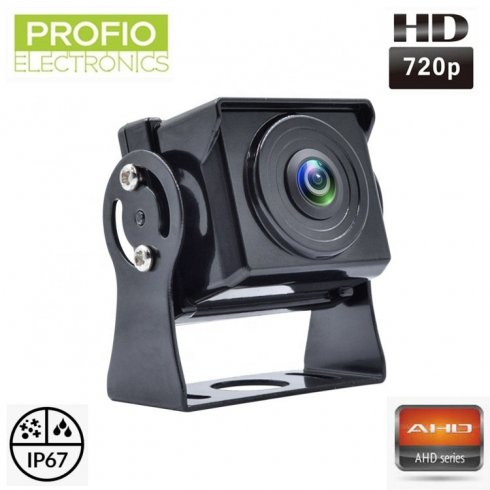 Small AHD reversing camera with 720P resolution with console and 120° angle of view + IP67