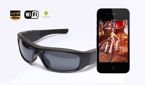 Wifi Glasses camera Full HD (live stream via smartphone)