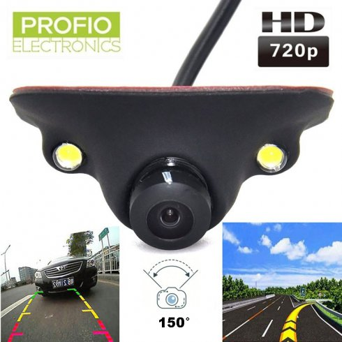 Mini HD reversing camera with 2x LEDs and IP67 protection + 150° angle
