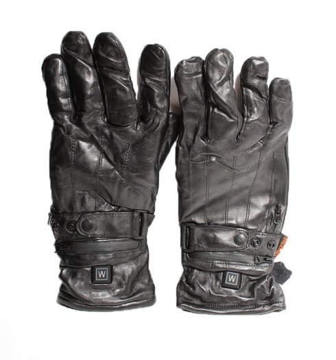Heated leather gloves for 9V battery + 3 heating modes