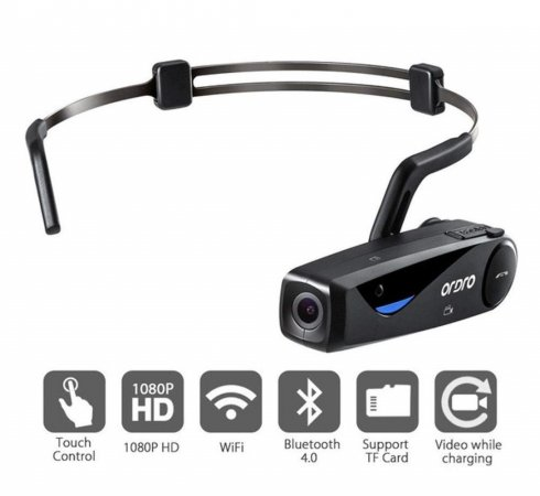 Camera on head with bluetooth mobile connection - FULL HD + WiFi (app controlled)