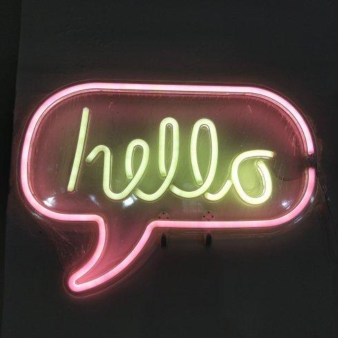 Neon lights sign - HELLOLedlogo