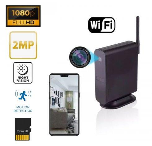 מצלמת ריגול מוסתרת בנתב WiFi - 2MP FULL HD 1080P + ראיית לילה IR 5 מ '+ זיהוי תנועה
