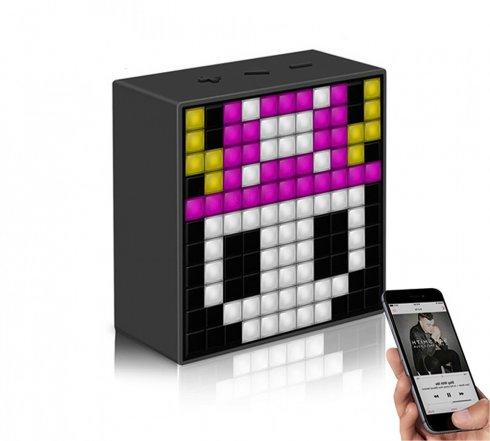 TimeBox - MINI Divoom - Altoparlante portatile con 121 LED RGB programmabili