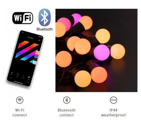 Ampoules de Noël - Éclairage LED 20pcs RGB - Twinkly Feston + BT + WiFi