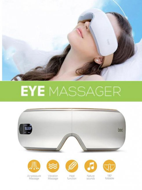 Wireless digital ocular massager ISee4 with warm compression and music