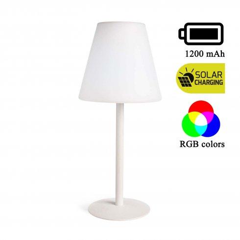 LED solarna lampa RETRO vrtna RGB/bijela lampa - baterija 1200mAh