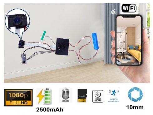 Cameră cu sticlă Full HD 10mm lentilă unghi larg 145 ° cu ext. LED IR + WiFi / P2P