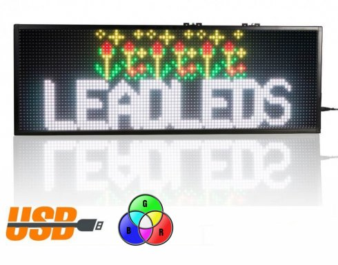 Promo Panel LED 76 cm x 27 cm - 7 colores RGB