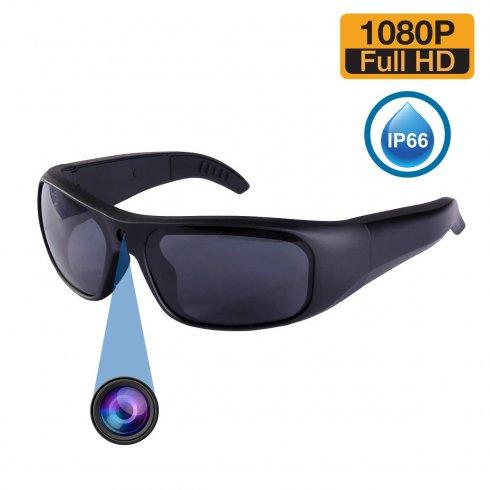 Αδιάβροχη κάμερα κατασκοπευτικών γυαλιών (ηλιόλουστα γυαλιά UV) με μνήμη FULL HD + 16 GB