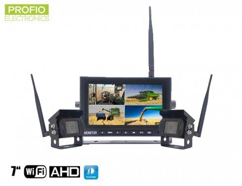 """Cámara trasera inalámbrica con monitor AHD WiFi SET - 1x monitor AHD de 7 """"+ 2x cámara HD"""