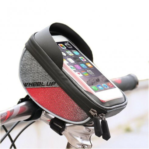 Case for bicycle mobile phone waterproof with TPU touch screen up to 6""