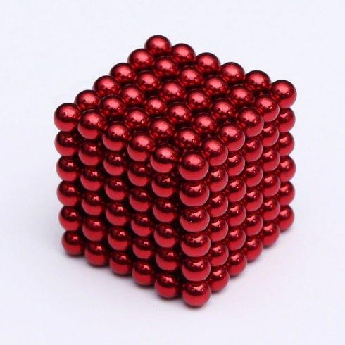 Magnetic balls for children 216 pcs - 5 mm red