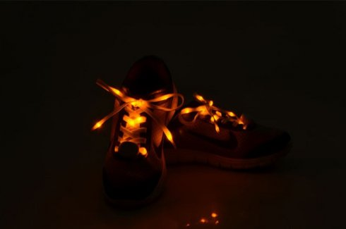 Colorful shoe laces - LED yellow