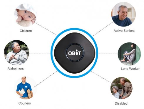GPS tracking device - Miniature gps locator with active listening - Qbit
