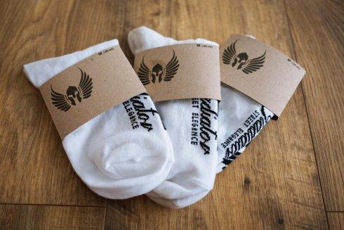 Členkové ponožky Gladiator - biele 3 páry