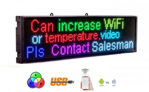 RGB Led panel for advertisement with WiFi - 68 cm x 17,5 cm
