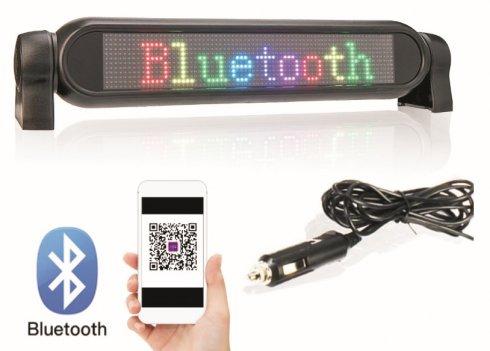 Ekran samochodowy LED Kolorowy panel programowalny RGB przez smartfon - 42 cm x 8,5 cm