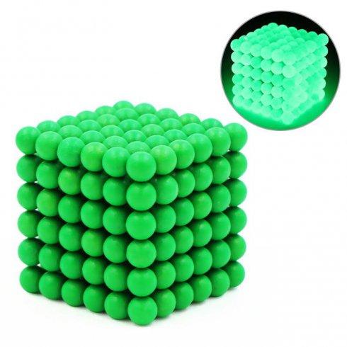 Neokubske magnetne kroglice - 5 mm fluorescenčne (žareče v temi)
