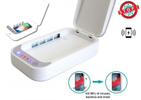 Sterilization Box XGerm Lite - Aroma sterilization in 10 minutes with 2x 1W UV + Wireless charging 7,5W