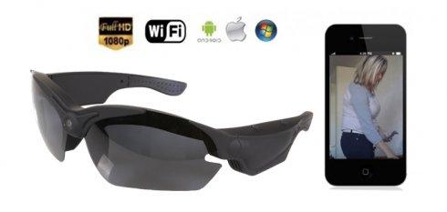 FULL HD Wifi камера в очках - солнцезащитные очки с УФ фильтром