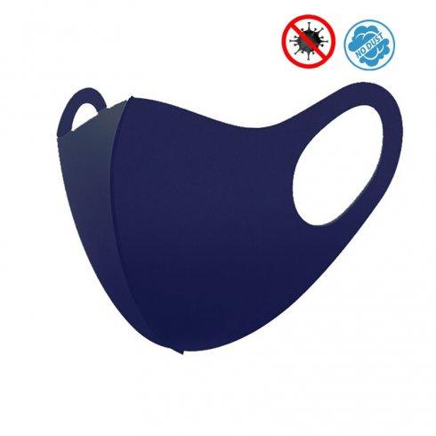Protective face masks NANO blue - Elastic (97% polyester + 3% spandex)