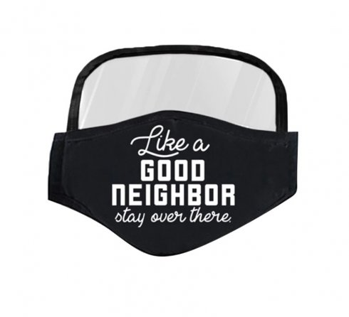 Mask with a protective shield on the eyes - Good neighbor